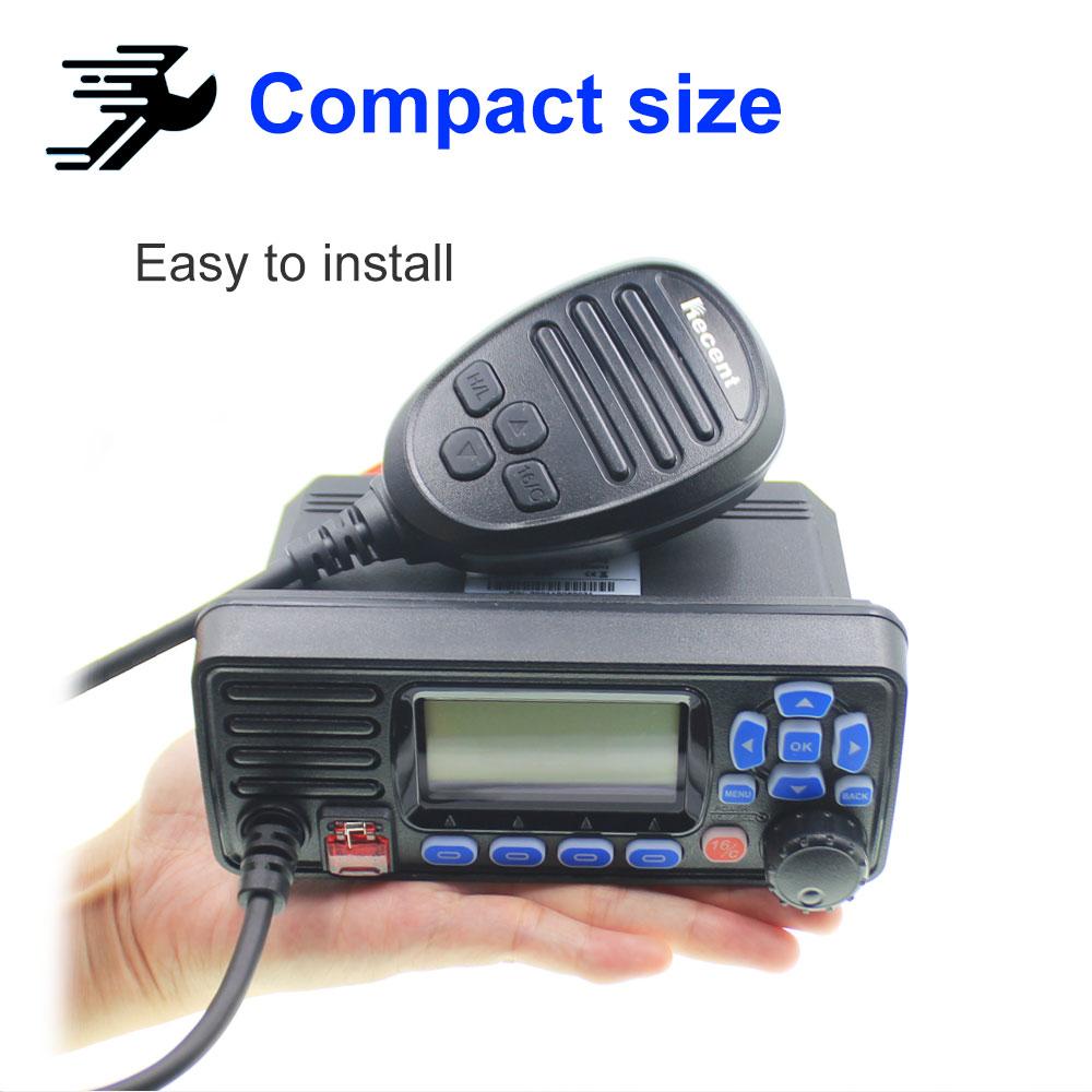 Recent RS-509MG 25W VHF 156.000-162.000MHz Fixed Marine Radio with GPS Walkie talkie IP67 Waterproof Mobile Boat VHF Radio Stati enlarge