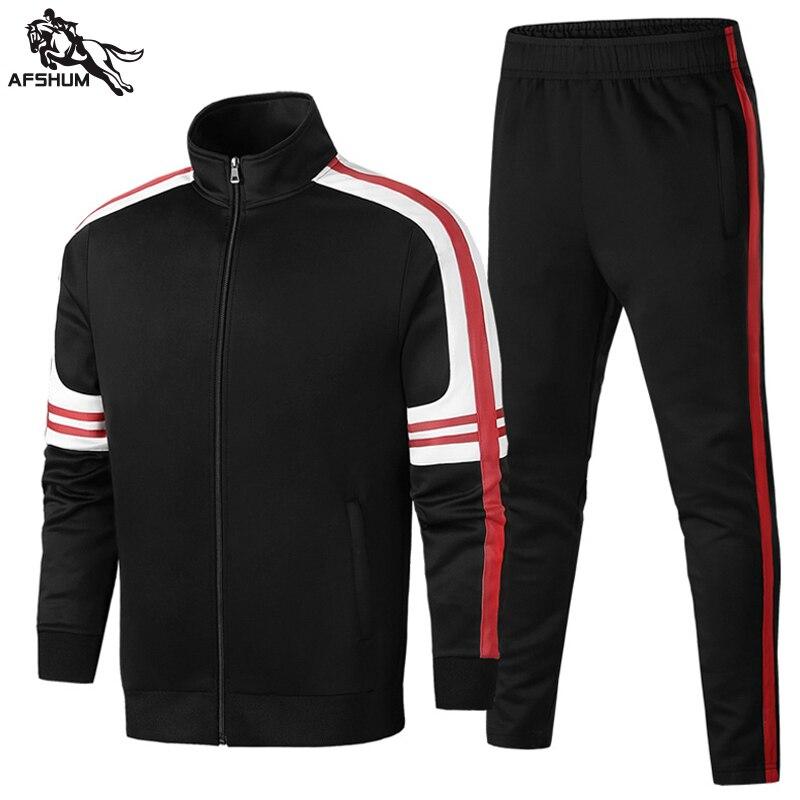 Спортивный костюм для мужчин комплект L-4XL 5XL мужские 2 шт. комплекты одежды на весну-осень новая молодежная повседневная одежда фитнес спорт...