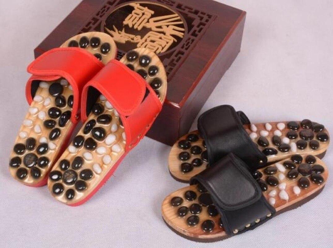 Directo de fábrica, verano, suela de pie adoquinada Natural, zapatos de masaje saludable, zapatillas para el hogar, zapatos de mujer, chanclas, zapatillas