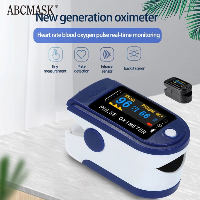 Portable Finger Oximeter Fingertip Heart Rate Saturometro Household Health Monitors Pulse Oximeter LED Oximetro Pulse