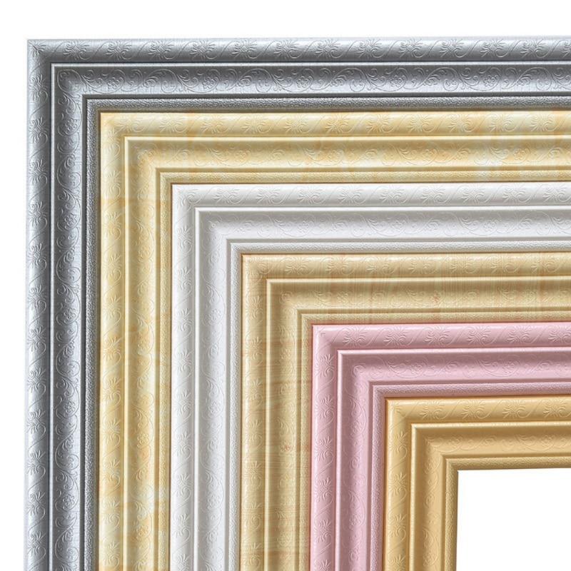 New 2.3M Length 3D Foam Wall Stickers Waterproof Waist Line Living Room Kitchen Baseboard Self-Adhesive Vintage Wallpaper Border