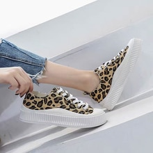 Women's Canvas Shoes Platform Vulcanize 2021 Fashion Summer Spring Autumn Casual Lady Flats Running