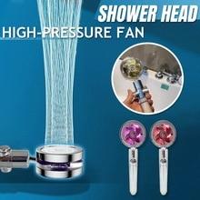 Water Saving Flow With Chrome ABS Rain High Pressure Nozzle Water Saving Spray Shower Head Bathroom Accessories