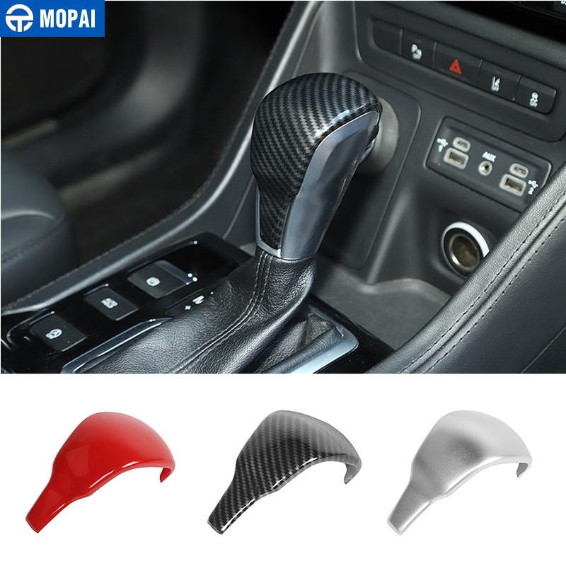 MOPAI Automotive Interior Stickers for Jeep Cherokee 2019+ Car Gear Shift Head Decoration Cover Trim for Jeep Cherokee 2019+