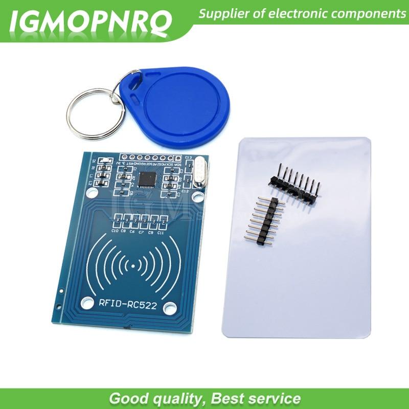 1pcs MFRC-522 RC522 mfrc 522 RFID RF IC card inductive module with free S50 Fudan card key chain MFRC522 For Arduino