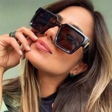 ERILLES New Square Sun Glasses Luxury Brand Designer Rectangle Sunglasses Men Women Vintage Retro Oc