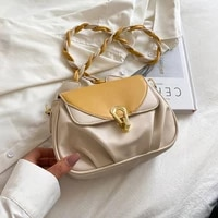 color contrast small pu leather cloud fold crossbody bags for women 2021 summer rope belt shoulder ladies handbags