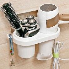 Mur sèche-cheveux support de rangement sèche-cheveux support créatif ventouse sèche-cheveux support peigne support salle de bain fournitures