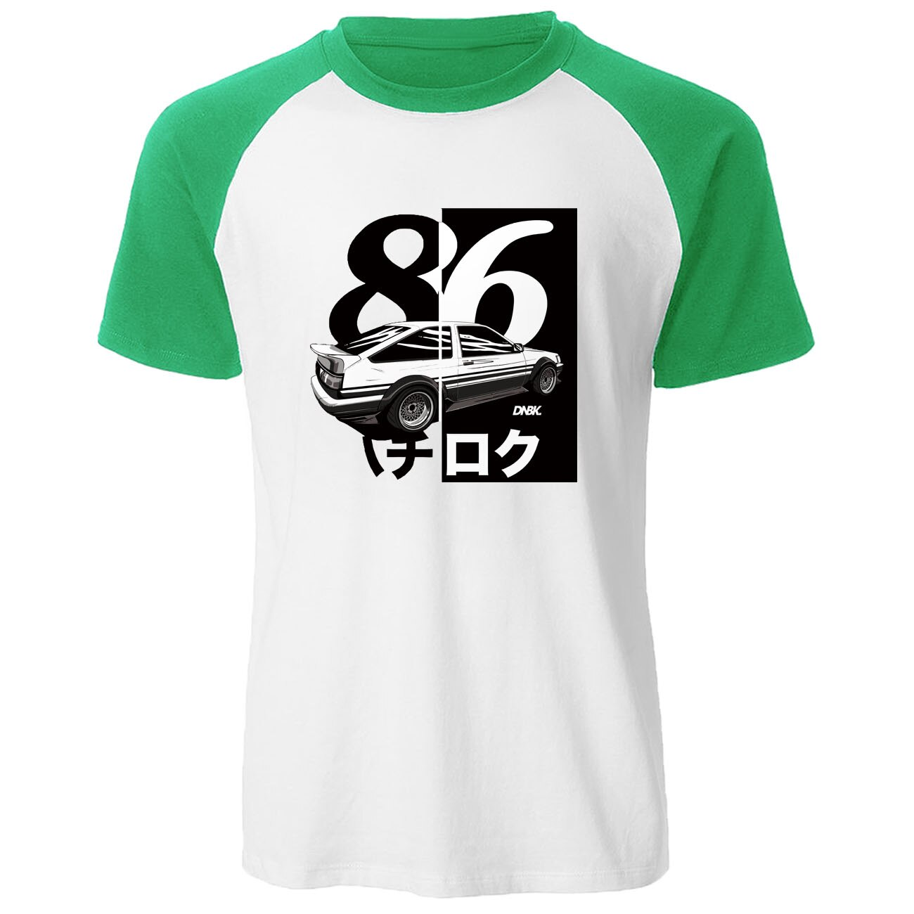 Los hombres de impresión camiseta Drift Anime japonés de moda camisa de manga corta raglán O cuello de verano Casual AE86 inicial D Homme camiseta
