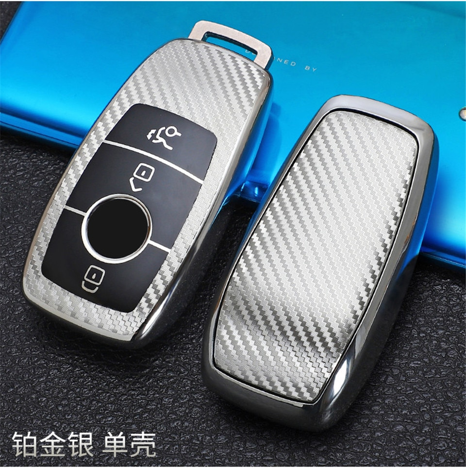 Fbier tpu carbono caso capa chave do carro saco escudo para mercedes benz 2017 e classe w213 2018 s classe acessórios do carro estilo