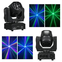 dj disco ac100250v 6x15w rgbw 4in1 leds mini bee eye moving h ead stage light 13 channels auto run dmx512 sound activated