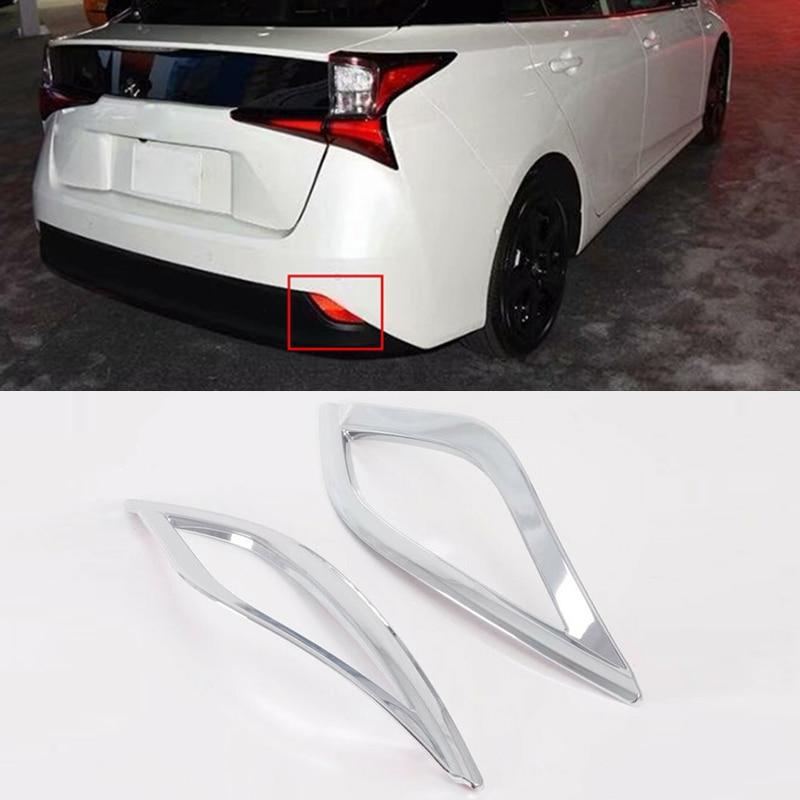 Cubiertas de molduras de luz antiniebla trasera cromadas para Toyota Prius Hatchback 2019 2020 duraderas y prácticas