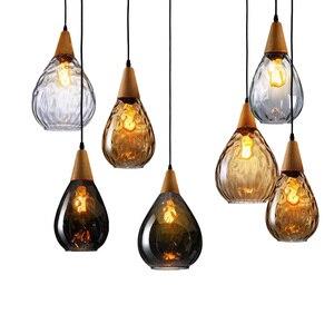 Nordic Glass Pendant Lights Modern Bar Hanging Lamp Dining Room Kitchen Lighting Fixtures Indoor Vintage Suspension Luminaire