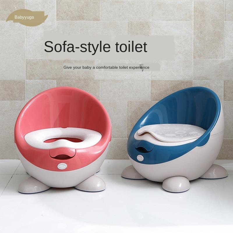 Portable Toilet Travel Potty Training Seat for Babys 1-6years Old Unisex Kids Urinal Ergonomics Splash Proof Separate Non-slip