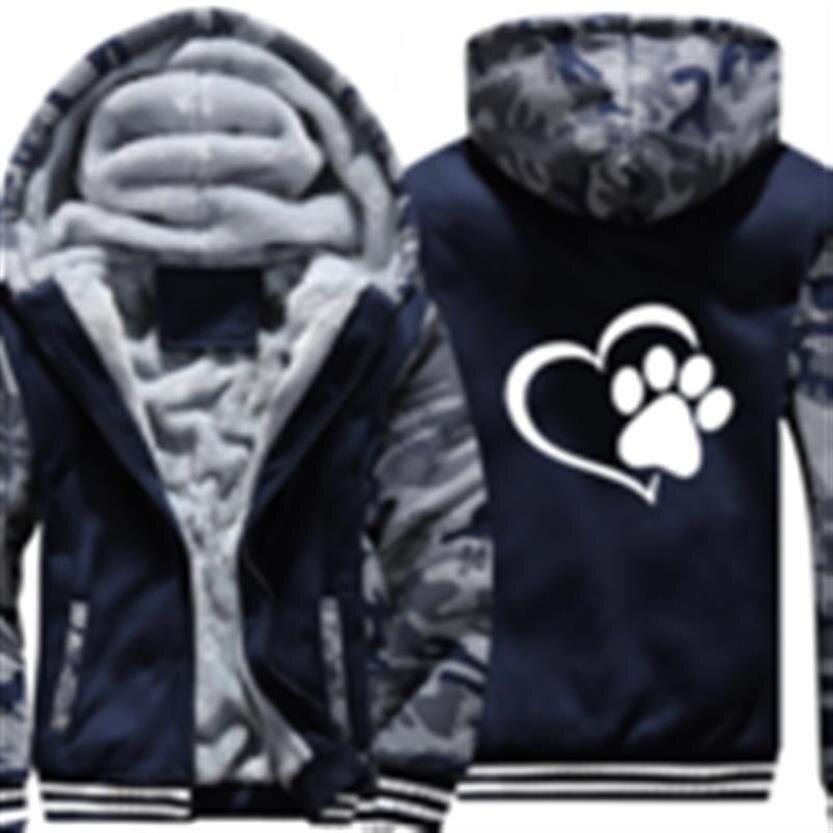 Hoodies For Men LOGO Dog Letters Print Padded Cardigan Baseball Uniform Jacket