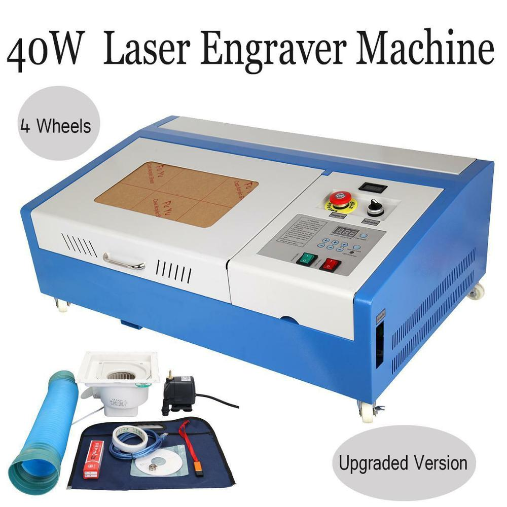 40W CO2 USB Laser Engraving Cutting Machine K40 Engraver Cutter 220V/110V CNC With Digital Display for Plywood Acrylic