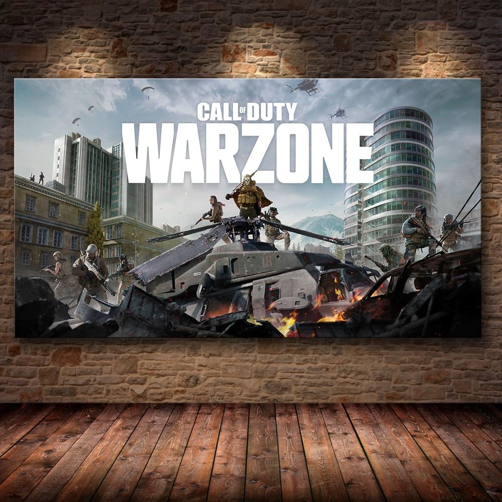 [해외] 프레임 없음 HD 콜 오브 듀티: 워존 게임 포스터, 애니메이션 캔버스 장식, 회화, 벽 스티커, 벽 아트, 홈 데코