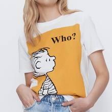 Femmes T-Shirt été 2020 nouvelle mode dessin animé lettre imprime haut ample moderne dame blanc T-Shirt