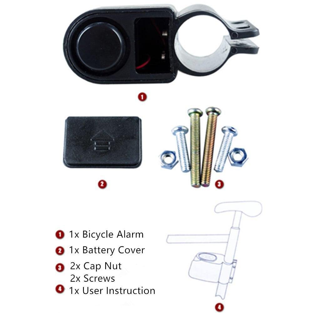 Alarma de seguridad de ciclismo para ciclomotor, bloqueo de sonido, Accesorios para...