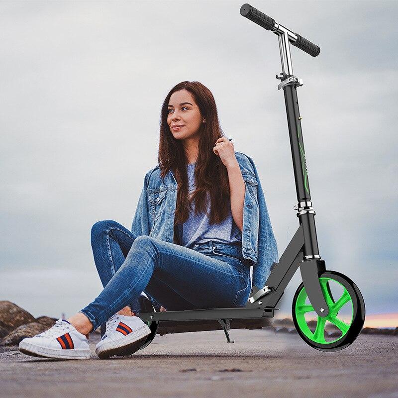 Directo de fábrica, patinete de trabajo de dos ruedas para adolescentes, patinete de ruedas grandes plegable portátil