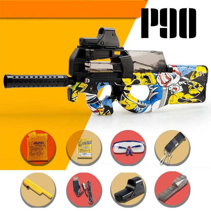 P90 Electric Water Bullet Gun Toy Sniper Rifle Graffiti CS Games Paintball Bursts Gun Boys Toys Outdoor Pistol Christmas Gift