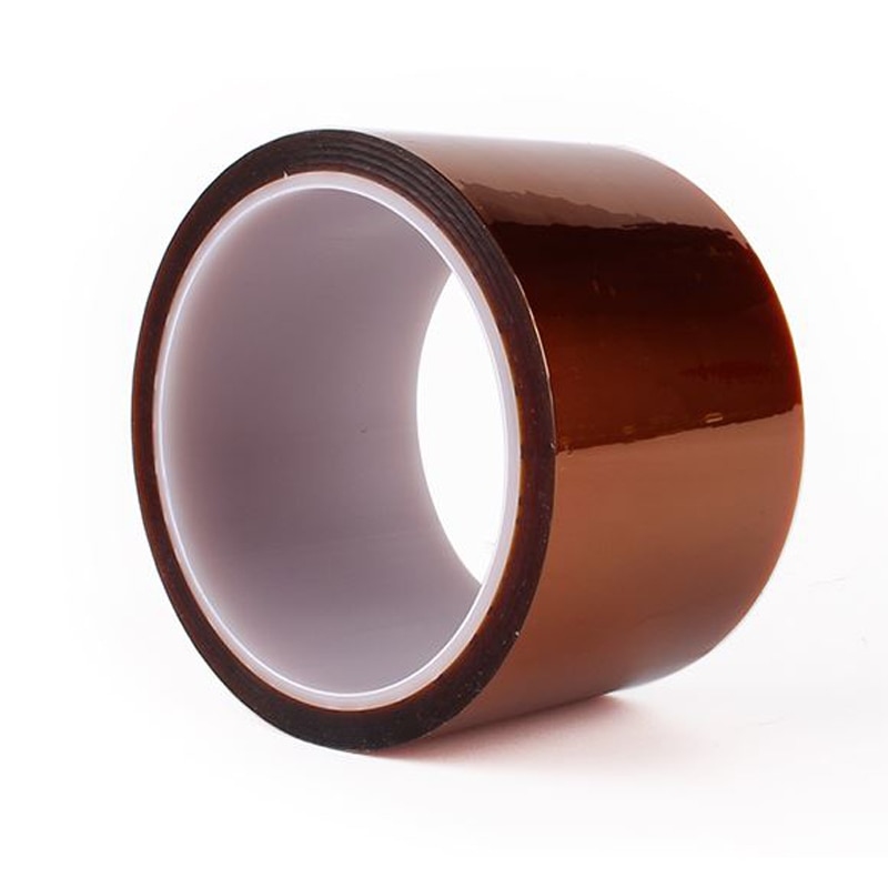 1 rolo de alta qualidade 33m 100ft fita adesiva ouro alta temperatura resistente ao calor fita de poliimida para a indústria eletrônica bga