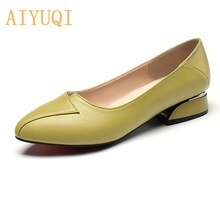 AIYUQI Women Formal Shoes Mid-heel 2021 New Women Spring Shoes Large Size 35-43 4 Colors Professiona