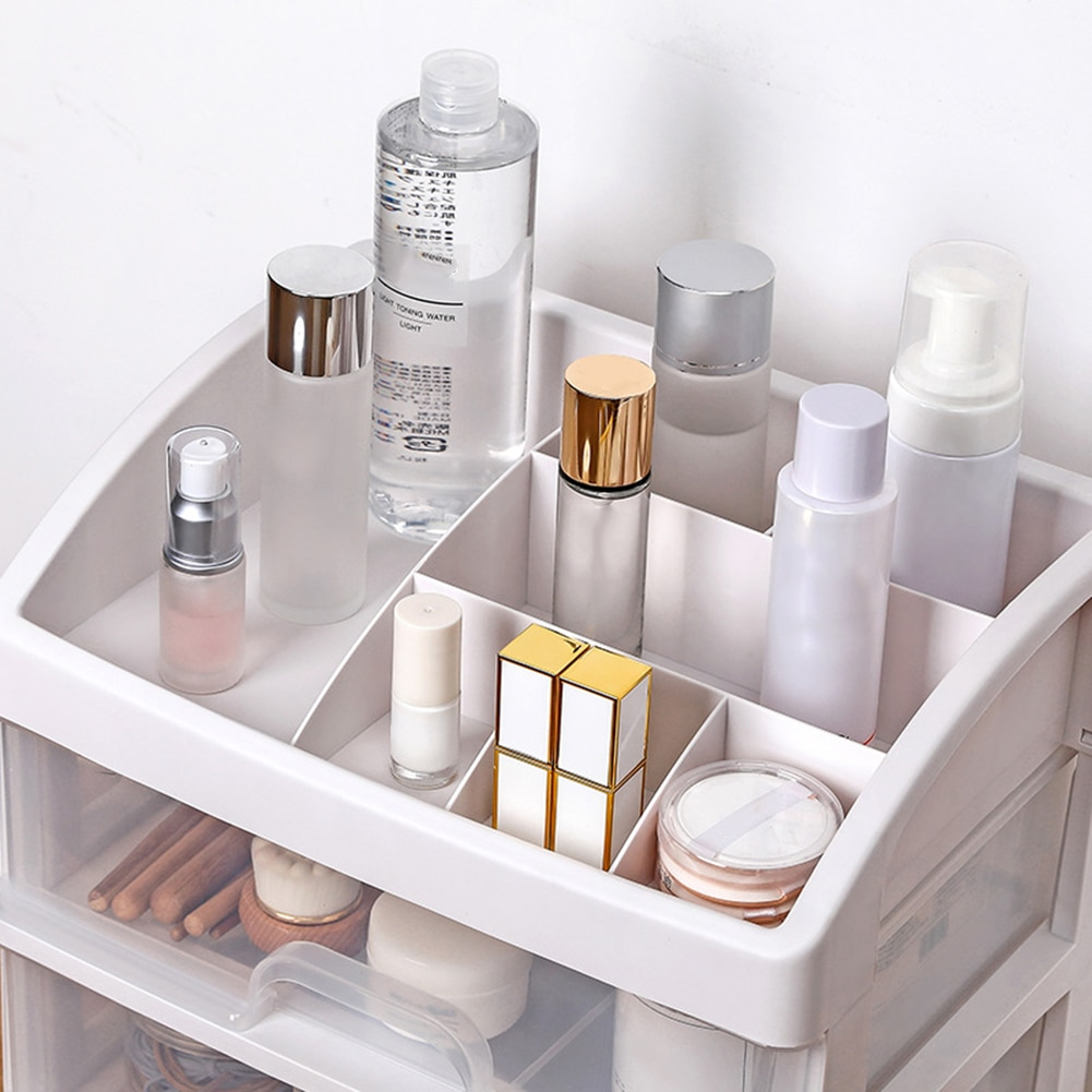 2/3 Layer Plastic Comestic Storage Box Makeup Organizer Brush Storage Box