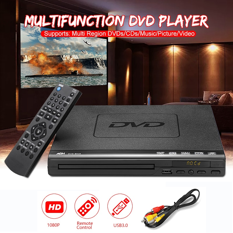 Home HD DVD Player Multimedia Digital TV Support USB DVD video/ DVD+RW CD Audio/VCD/SVCD JEPG/MP3/WMA/Disc Home Theatre System