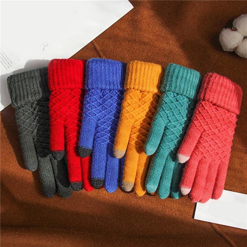 Guantes de invierno para mujer, guantes de conducción con pantalla táctil, par...