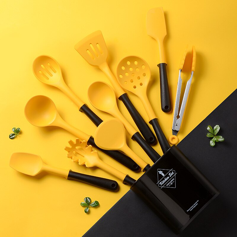 أدوات المطبخ سيليكون الطبخ مجموعة غير عصا أواني الطبخ أدوات الخبز مع صندوق تخزين أدوات المطبخ اكسسوارات
