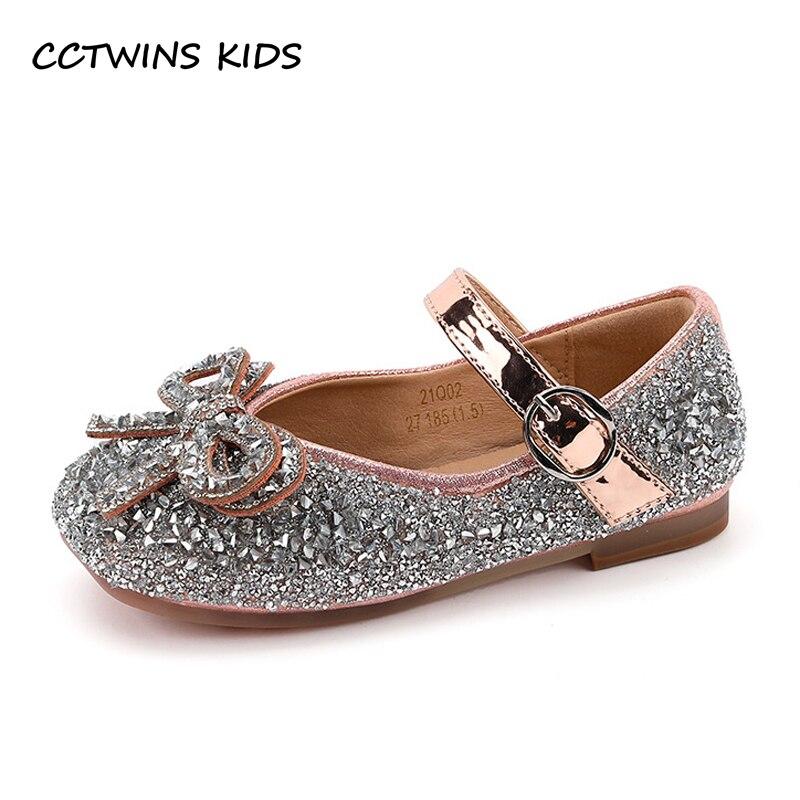 الفتيات أحذية 2021 الخريف طفل أطفال موضة الأميرة بريق الأطفال أحذية مدرسة طفل ماري جين فستان رقص منصة لينة