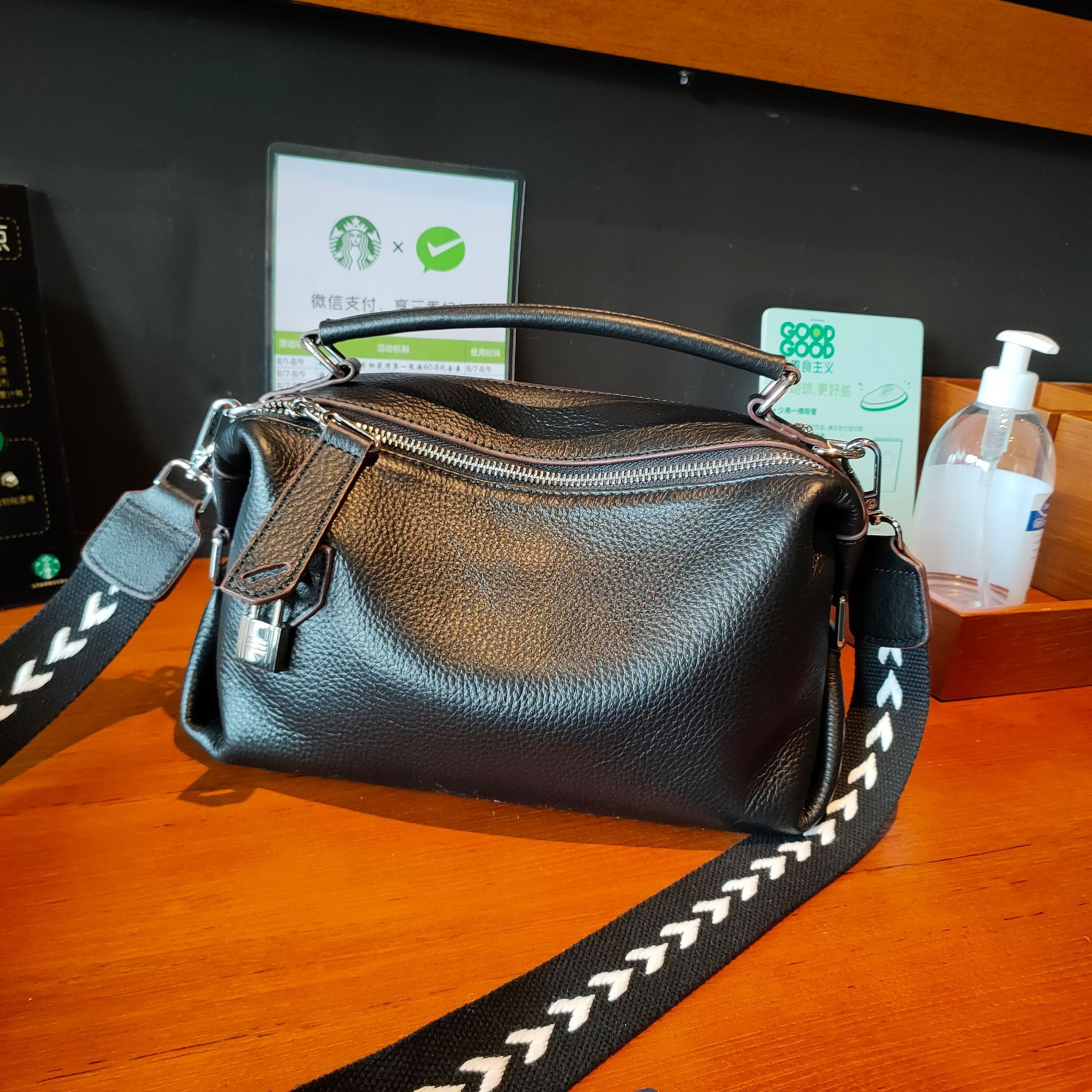 Fashion Soft Genuine Leather Handbag Business Women's Shoulder Messenger Bag Office Lady Top-handle Bag Small Totes Bags