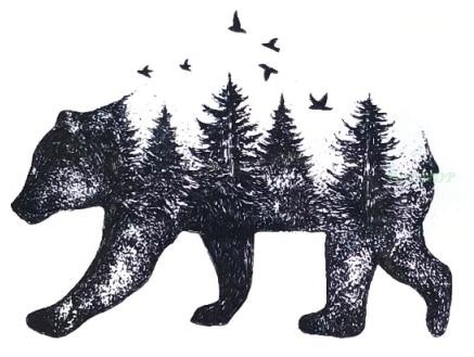 Waterproof Temporary Tattoo Siberia forest bear tree bird fox owl wolf whale tatto flash tatoo fake for girl women men 7