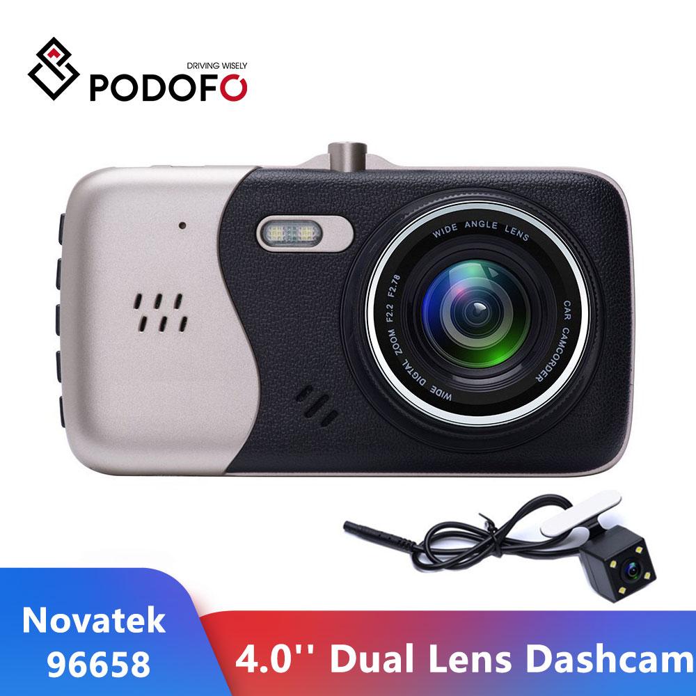 """Podofo 4.0"""" Novatek Car Camera Dual Lens Dach Cam DVR Driving Recorder Auto Dash Camara Retrovisor Registrator Car Dvr Camcorder"""