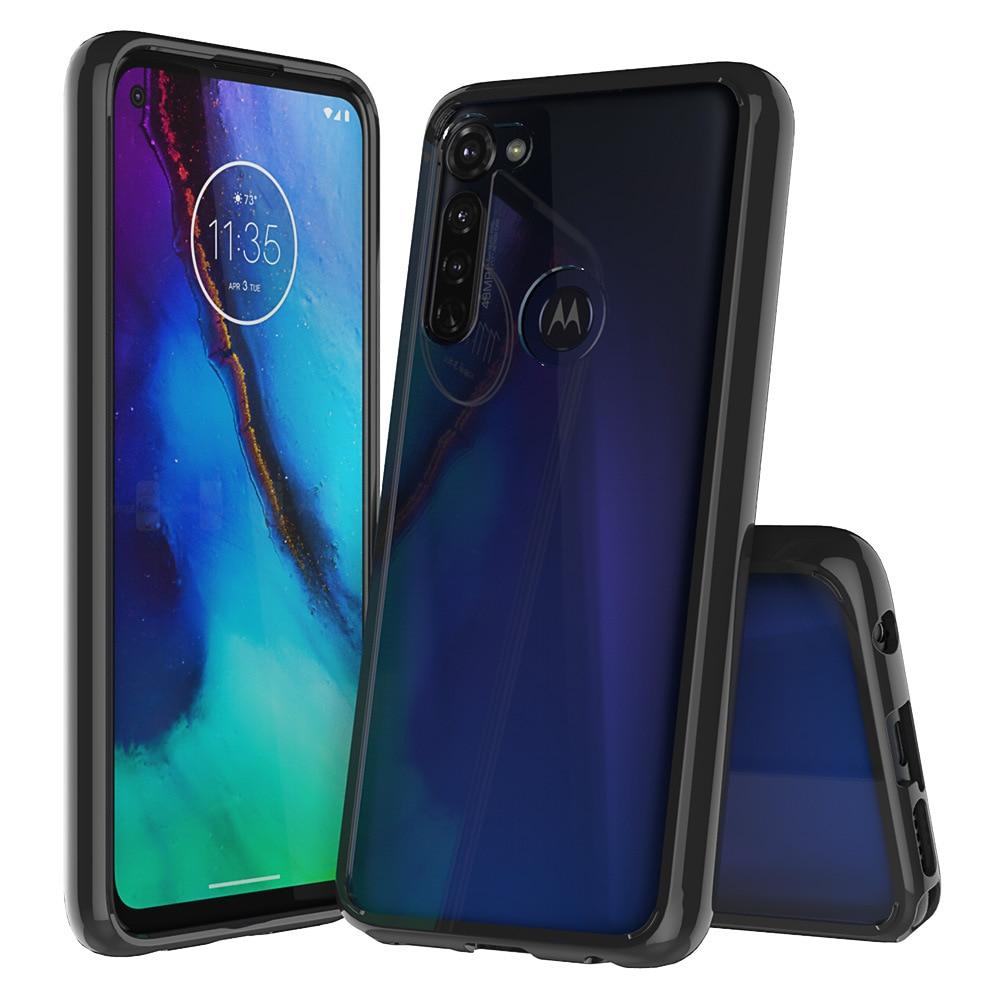 Para Motorola Moto G funda con estilo parachoques de cristal híbrido funda de teléfono transparente para Moto G Stylus cubierta trasera acrílica para Moto G Stylus