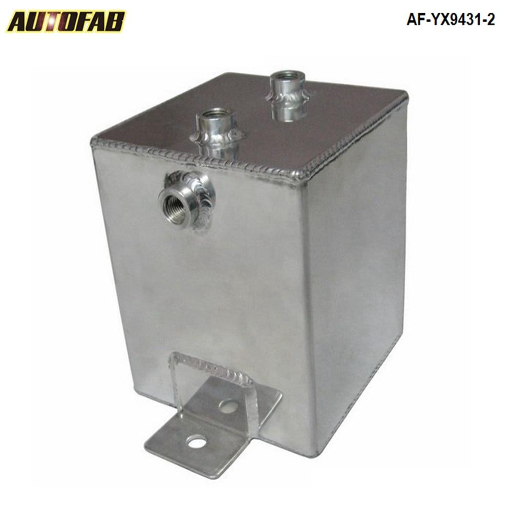 Universal polido liga de alumínio 2l combustível impulso óleo água an6 encaixes/respiro tanque AF-YX9431-2