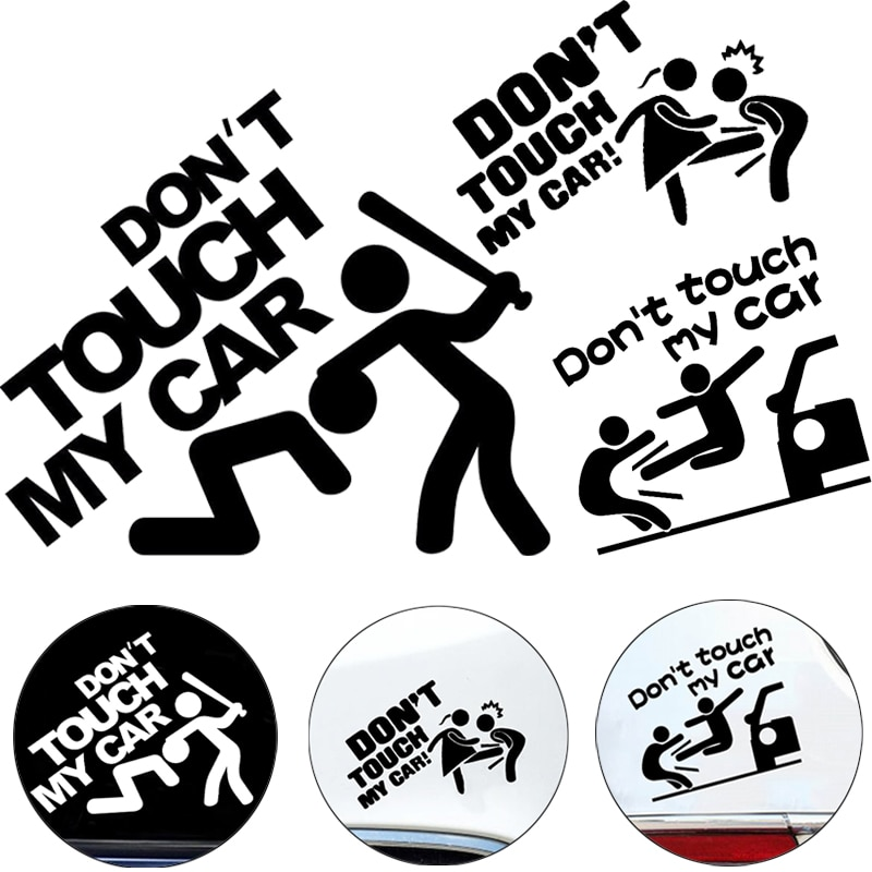 Car sticker Vinyl Do Not Touch My Funny Safety Warning Decal Sticker Waterproof Personalise Styling