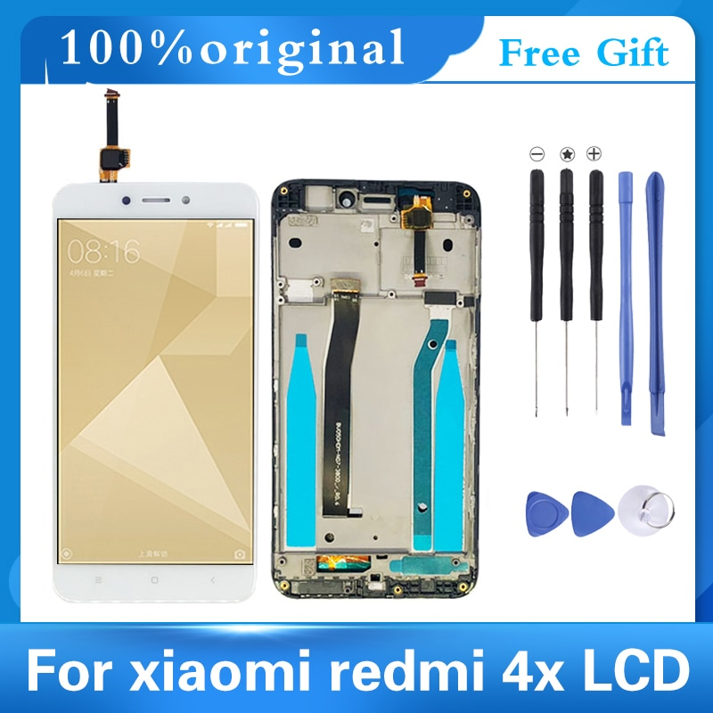 AAA Quality LCD+Frame For Xiaomi Redmi 4X LCD Display Screen Replacement For Redmi 4X digitizer Assembly original lcd frame for xiaomi redmi 5a lcd display screen replacement for redmi 5a screen digiziter assembly aaa quality