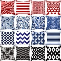 wholesale high sale red blue black geometric cushion cover hugging pillow case square sofa home household soft pillow cover