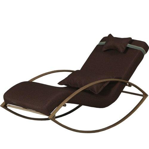Leisure Lounge Chair Fabric Balcony Rocking Chair Old Man Leisure Pregnant Woman Leisure Chair Lunch Break Chair Washable Domomy