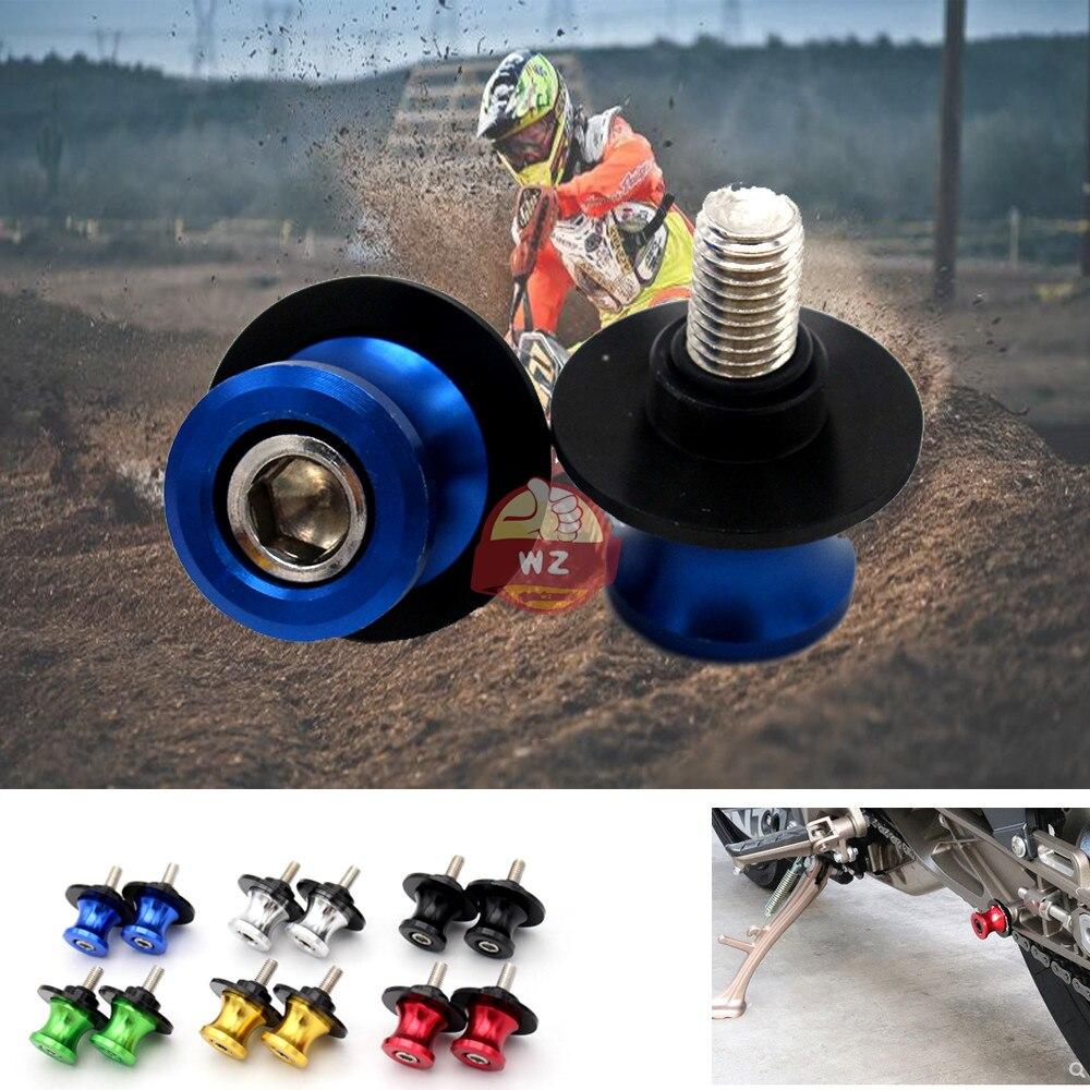 Accesorios de la motocicleta CNC aluminio M6 basculante carrete deslizante soporte tornillo...