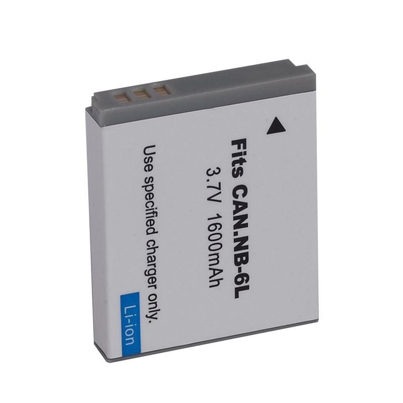 2 шт 3,7 V 1600mAh аккумулятор камеры для Canon NB-6LH NB6L