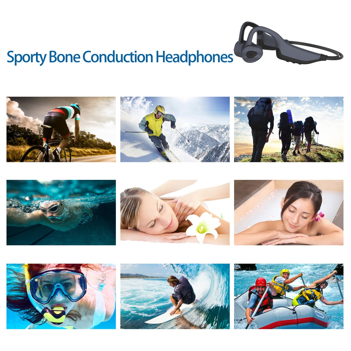 DDJ K7 IPX8 Waterproof Swimming Wireless Bluetooth Headphone MP3 Player Sport Earphone 8G Memory Diving Running for Android Ios enlarge
