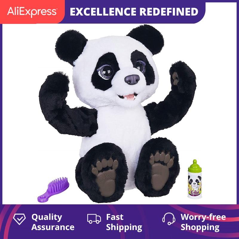 39cm FurReal Plum Friends Pet The Curious Panda Cub Interactive Toys For Kids Plush For Girls Stuffed Animals Doll Panda Cute