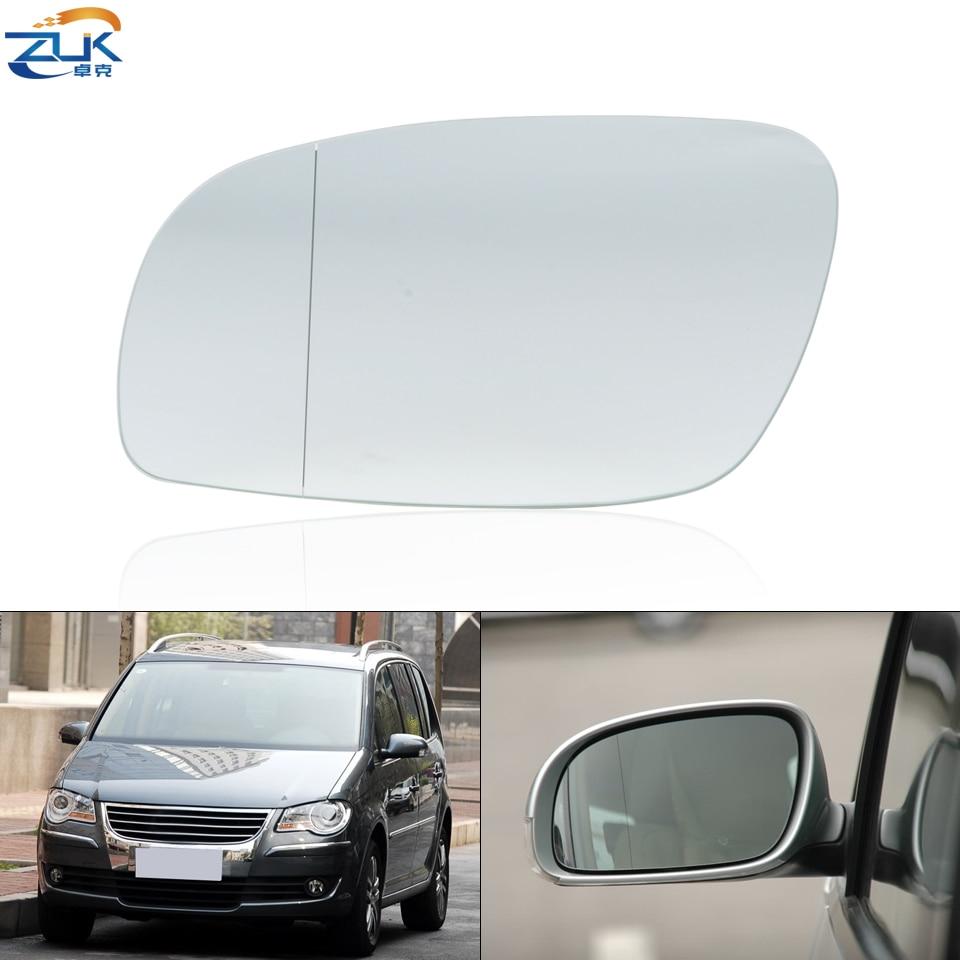 Lente de espejo de ala Exterior de coche ZUK para VW TOURAN 2004-2010, gafas de espejo retrovisor de puerta Exterior con calefacción