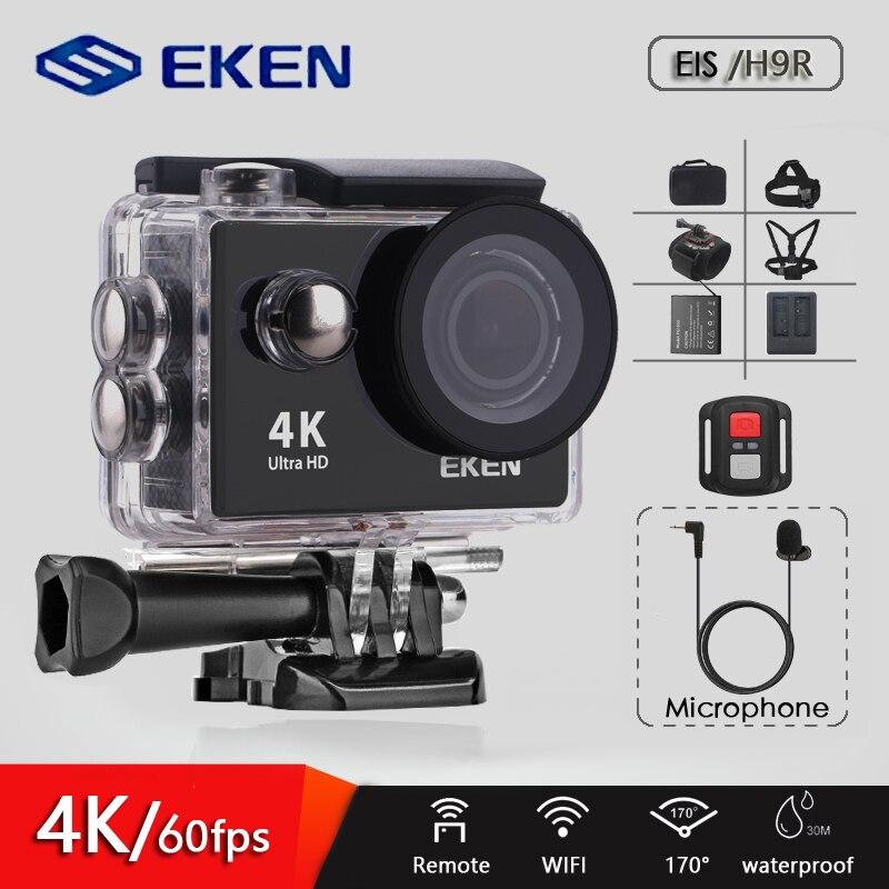 EKEN H9R EIS عمل كاميرا الترا HD 4K 60fps واي فاي 2.0 بوصة 170D تحت الماء مقاوم للماء خوذة تسجيل الفيديو كاميرات كاميرا رياضية