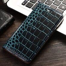 Crocodile Grain Flip Phone Leather Case For Apple iPhone 11 Pro Max 5 5s 6 6s 7 8 Plus SE X XR XS Max SE 2020 Cases