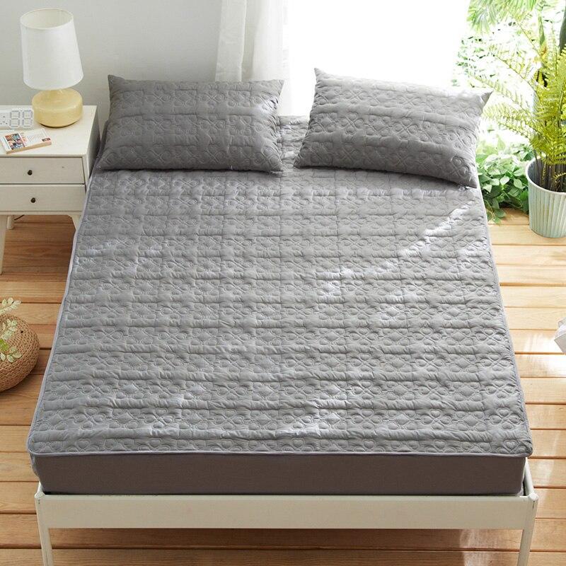 ملاءة سرير من ألياف البوليستر والقطن مزودة بشريط مطاطي مفرش سرير متعدد المقاسات اختياري مادة الفراش شحن مجاني