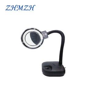 ZHMZH 5X 10X Magnifying Glass Lamp Ring Light Electronic Maintenance Lamp Reading Fluorescent Desk Lamp 220V